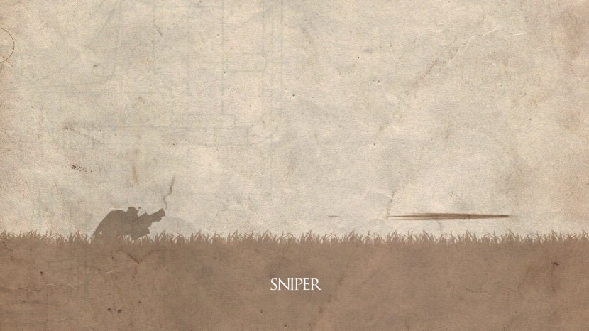 Sniper download dota 2 heroes minimalist silhouette HD wallpaper
