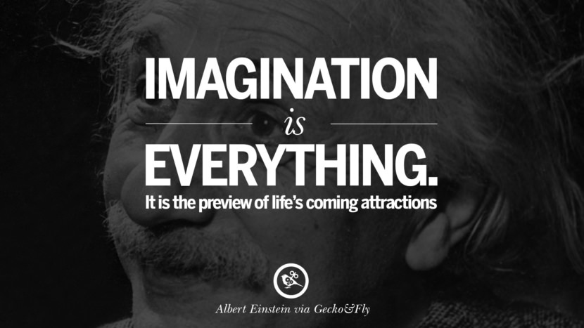 Imagination is everything. It is the preview of life's coming attractions. Beautiful Albert Einstein Quotes on God, Life, Knowledge and Imagination