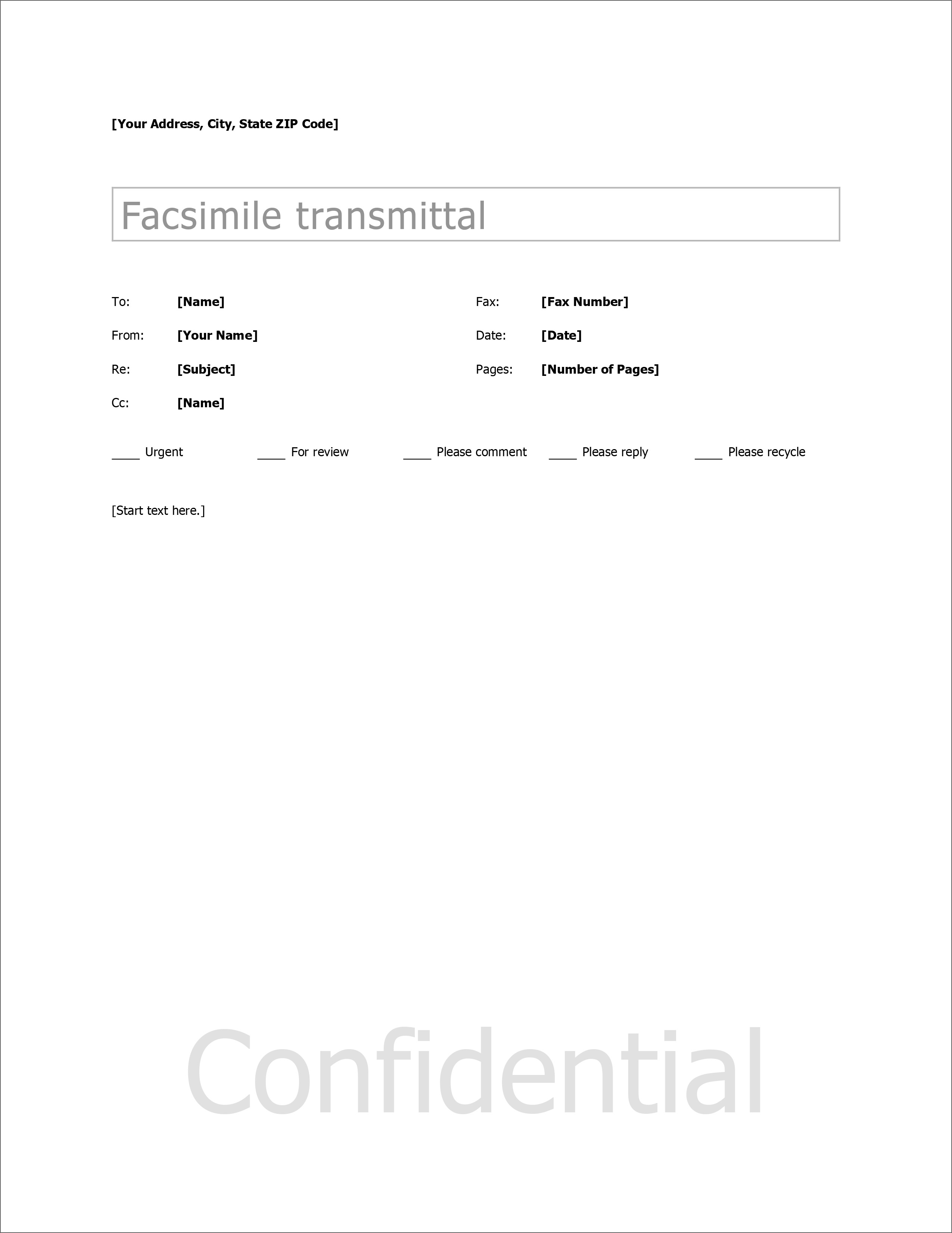 Cover Letter For Fax Template from www.geckoandfly.com
