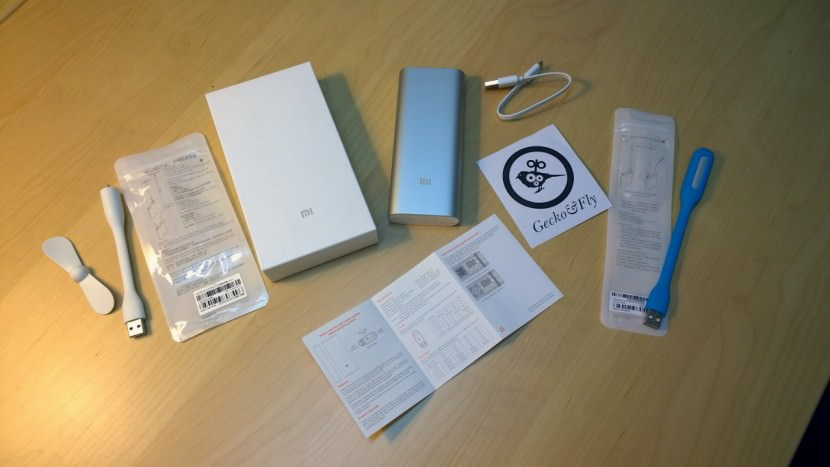 Mi 16000 mAh Portable USB Power Bank Charger, USB Fan and LED Light