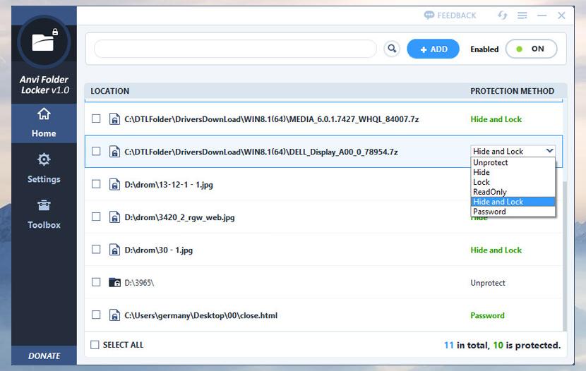 anvi folder locker Software For Password Protecting File And Folder Locker For Windows encryption