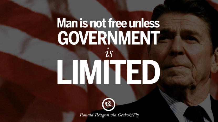 Man is not free unless government is limited. best president ronald reagan quotes tumblr instagram pinterest inspiring library airport uss school