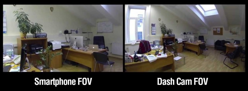 field of view comparison dashcam smartphone