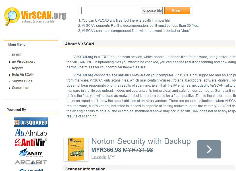 virscan online web scanner Online Computer Virus Scanner, Upload and Scan Suspicious Files with Multi Antivirus Engine