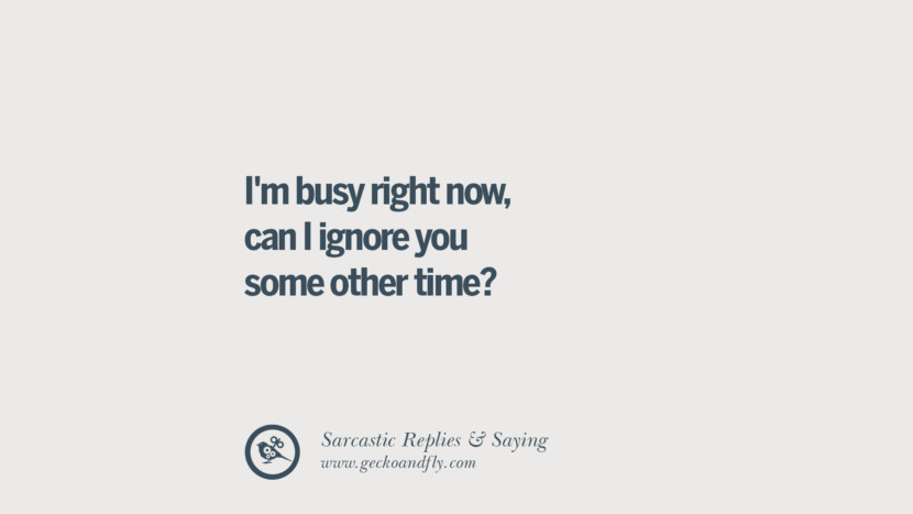 I'm busy right now, can I ignore you some other time? Funny Non-Swearing Insults And Sarcastic Quotes for fake friends, ex bf, ex gf, boyfriend, girlfriend, enemies and haters facebook twitter pinterest