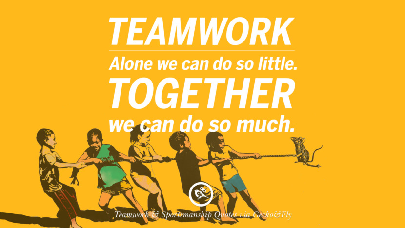 Teamwork - Alone we can do so little. Together we can do so much. Quotes Sportsmanship Teamwork Sports Soccer Fifa Football Cricket NBA Basketball Hockey Tennis Volleyball Table Tennis Baseball Rugby American Football Golf facebook twitter pinterest team work sports saying live online olympics games teamwork quotes inspirational motivational