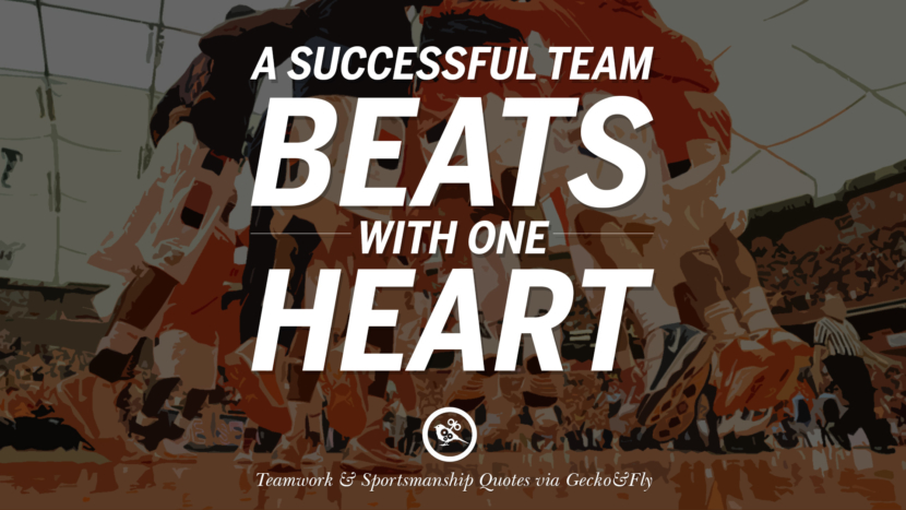 A successful team beats with one heart. Quotes Sportsmanship Teamwork Sports Soccer Fifa Football Cricket NBA Basketball Hockey Tennis Volleyball Table Tennis Baseball Rugby American Football Golf facebook twitter pinterest team work sports saying live online olympics games teamwork quotes inspirational motivational