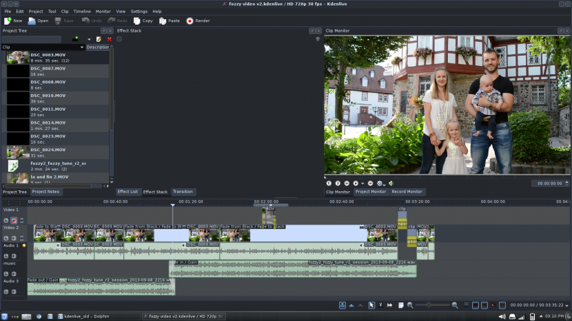 KDenLive Video Editing Software Free Video Editing Software For YouTube Movies And Film