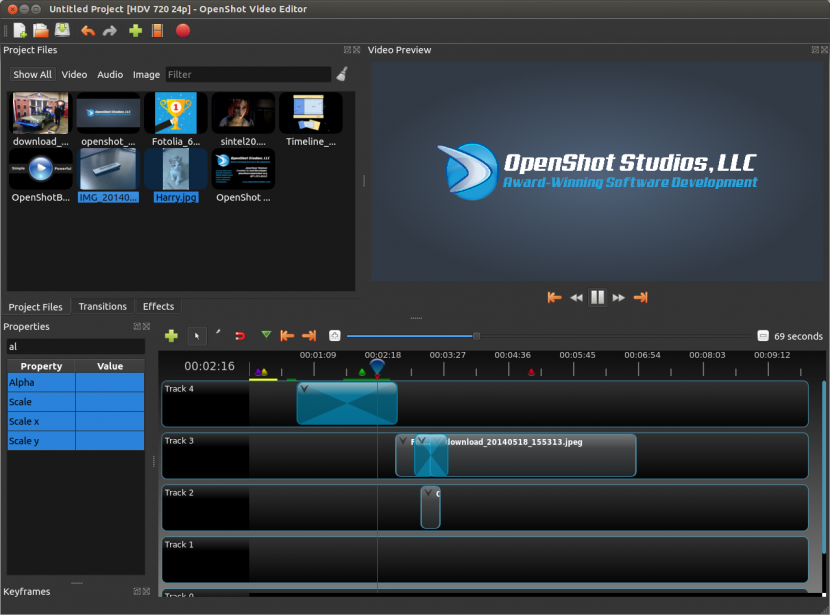 OpenShot 2 Free Video Editing Software For YouTube Movies And Film