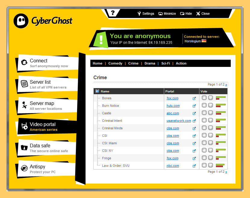 cyberghost vpn Top 10 Free VPN Service With US UK Server With Best Speed