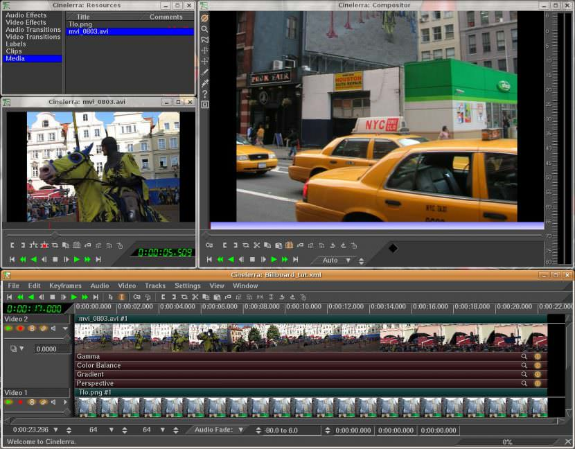 Cinelerra Free Video Editing Software For YouTube Movies And Film