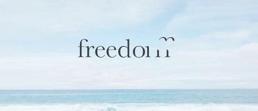 freedom text creative
