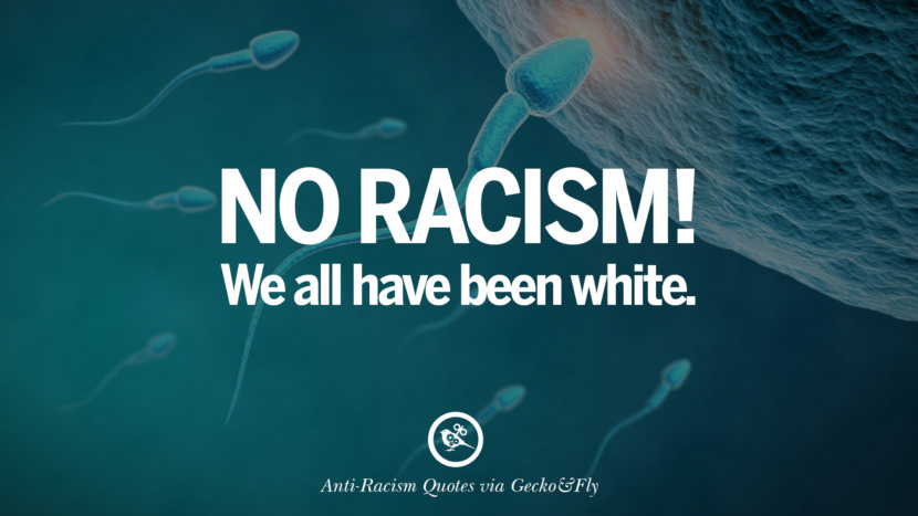 No racism! We all have been white. Quotes About Anti Racism And Against Racial Discrimination Instagram Pinterest Facebook