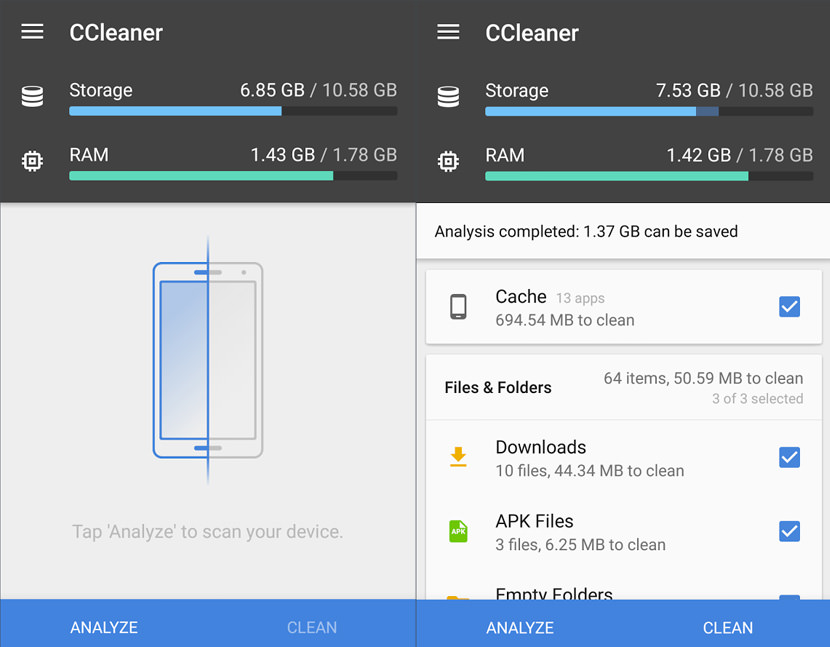 ccleaner android junk Free Apps To Clean Up Android And Free Up Storage Space