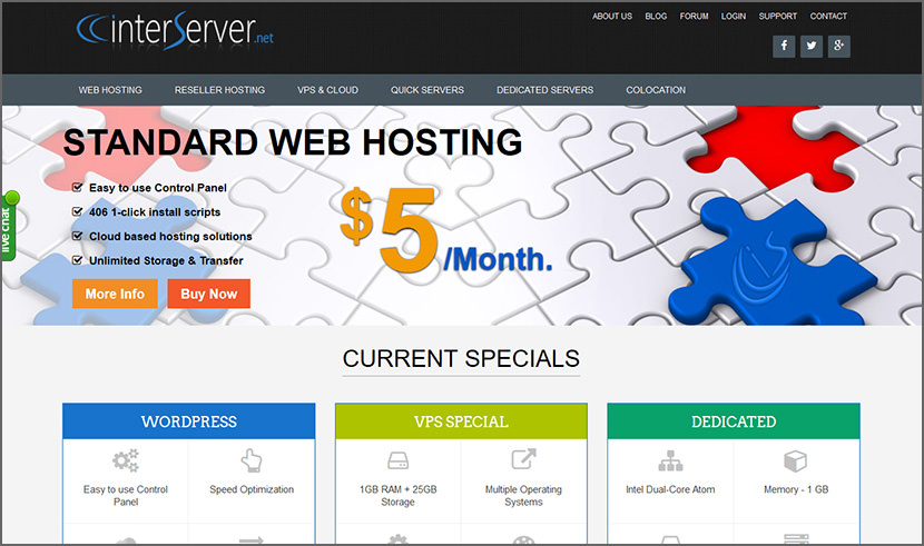 interserver Cheap Yet Reliable Shared Web Hosting For WordPress Quality Best