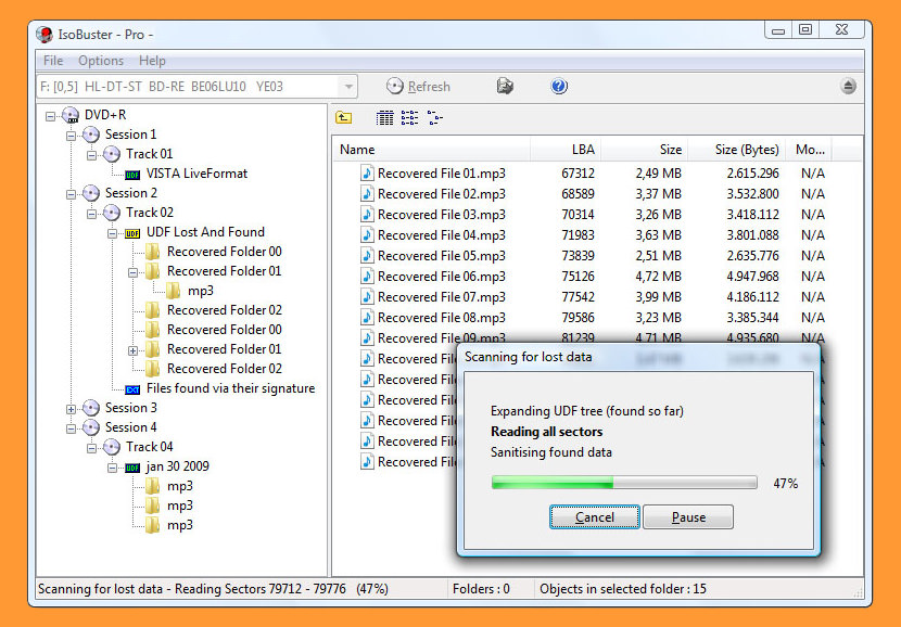 iosbuster Free CD DVD Data Recovery Software - Repair Scratched or Damaged Disk