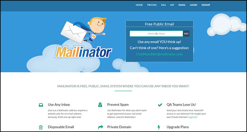 mailinator Free Temporary Disposable Email Services To Fight Spam