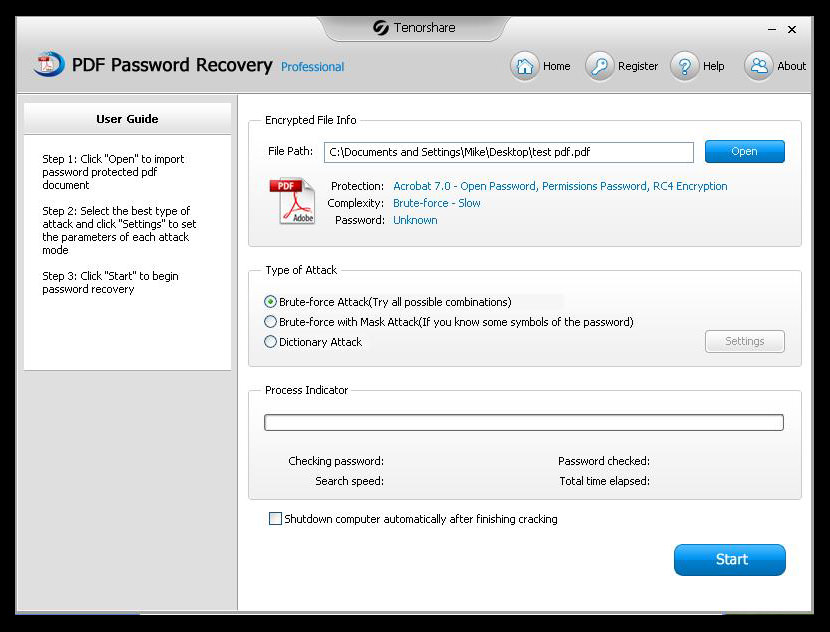 tenorshare pdf password crack PDF Password Recovery / Remover For Secure Protected PDF