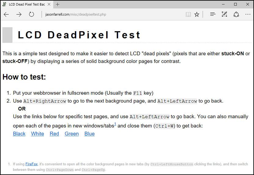 LCD DeadPixel Test