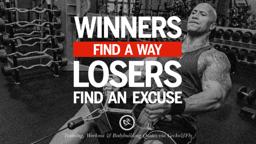 Winners find a way, losers find an excuse. Muscle Gain Training, Workout & Bodybuilding Quotes