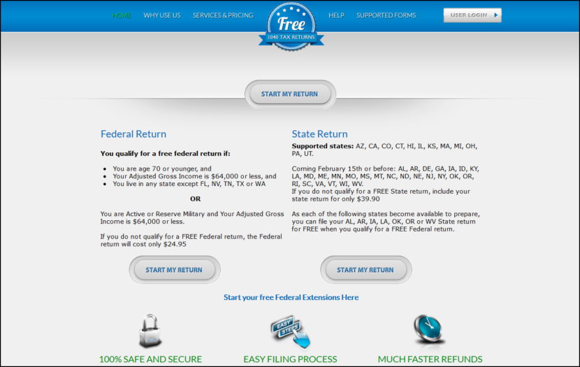Free 1040 Tax Return