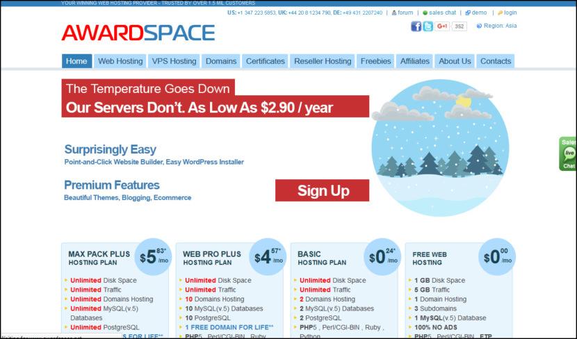 AwardSpace Free Hosting