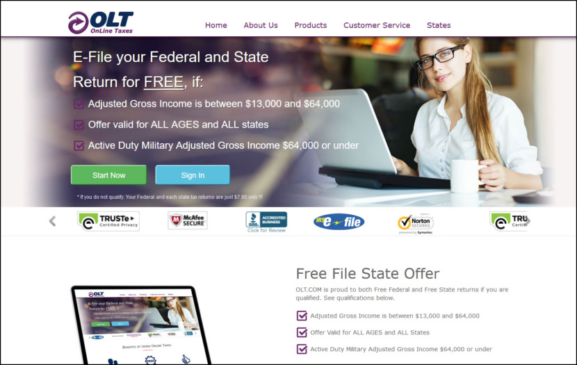 Online Taxes at OLT