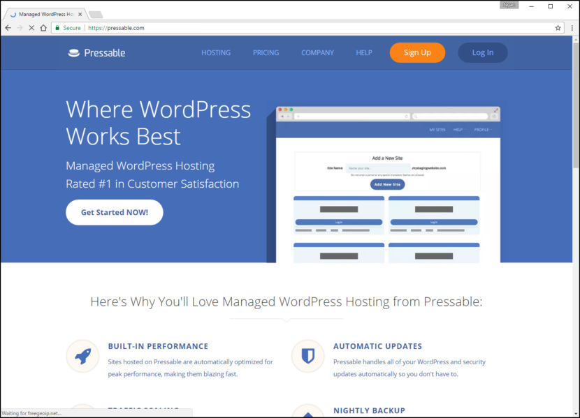 Pressable Fastest WordPress Hosting With Varnish Cache, CDN & Daily Backup