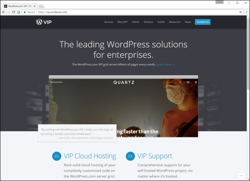Wordpress.com VIP Fastest WordPress Hosting With Varnish Cache, CDN & Daily Backup