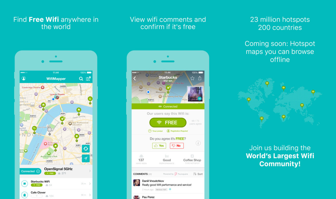 4 Apps To Find Places With Free Wireless WiFi Networks And Passwords