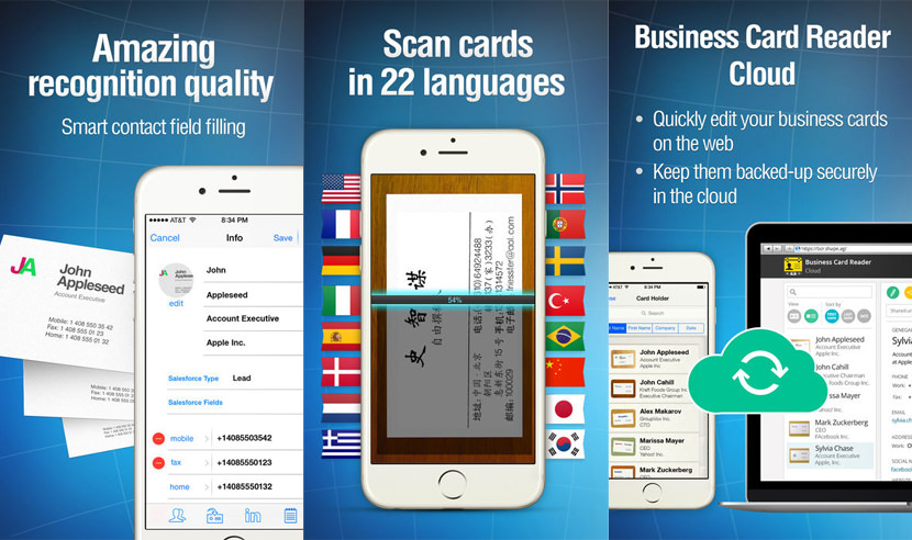 Shape Business Card Reader