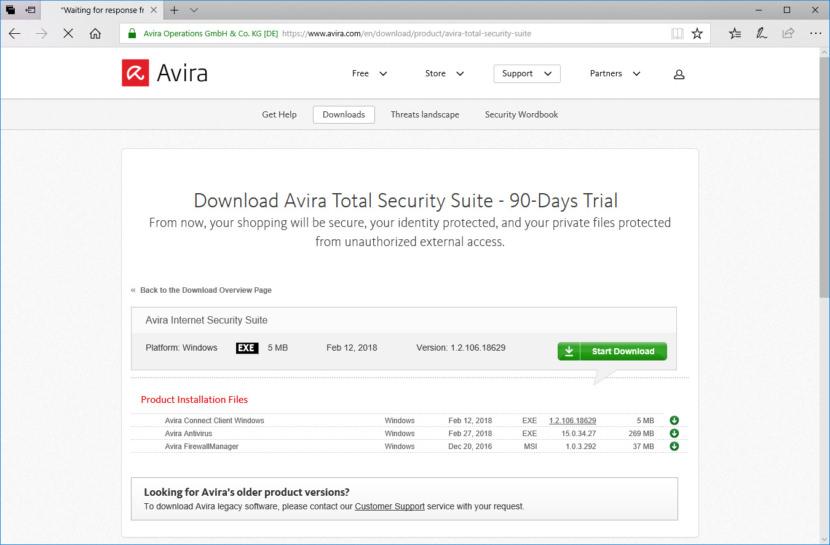 Download Avira Total Security Suite