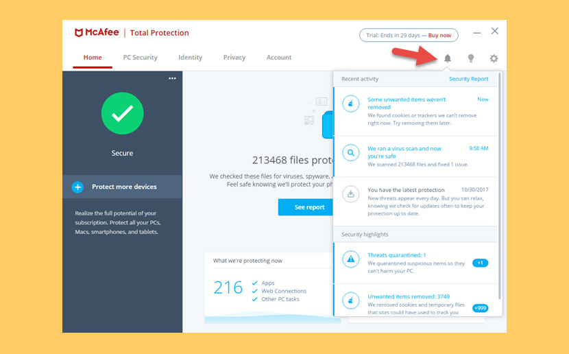 Mcafee free 1 year trial