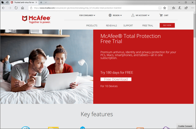Free McAfee Total Protection