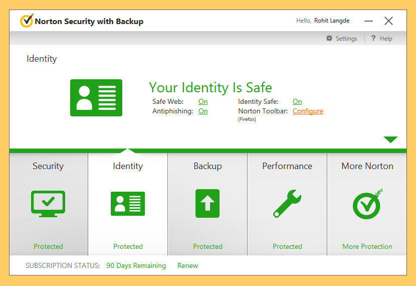 Download 3 Months Free Norton Security With Backup