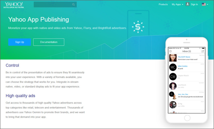 Yahoo App Publishing