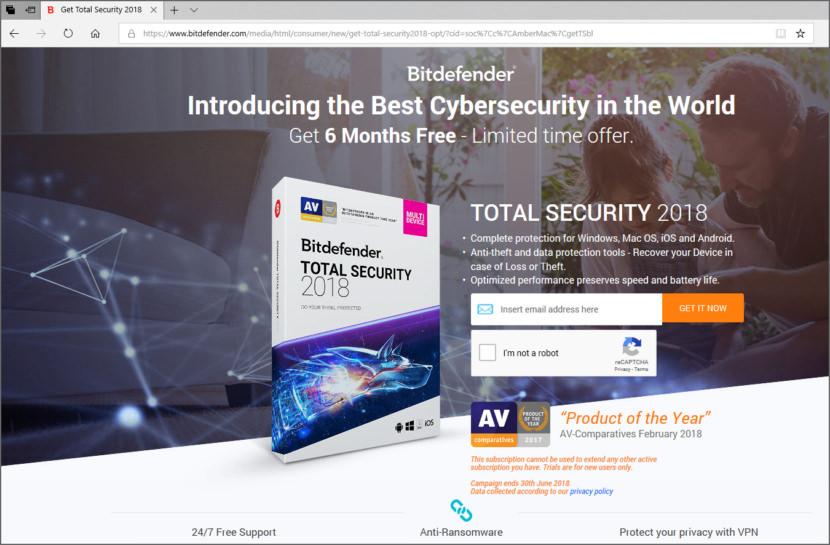 Download Bitdefender Total Security 2018 Free For 6 Months