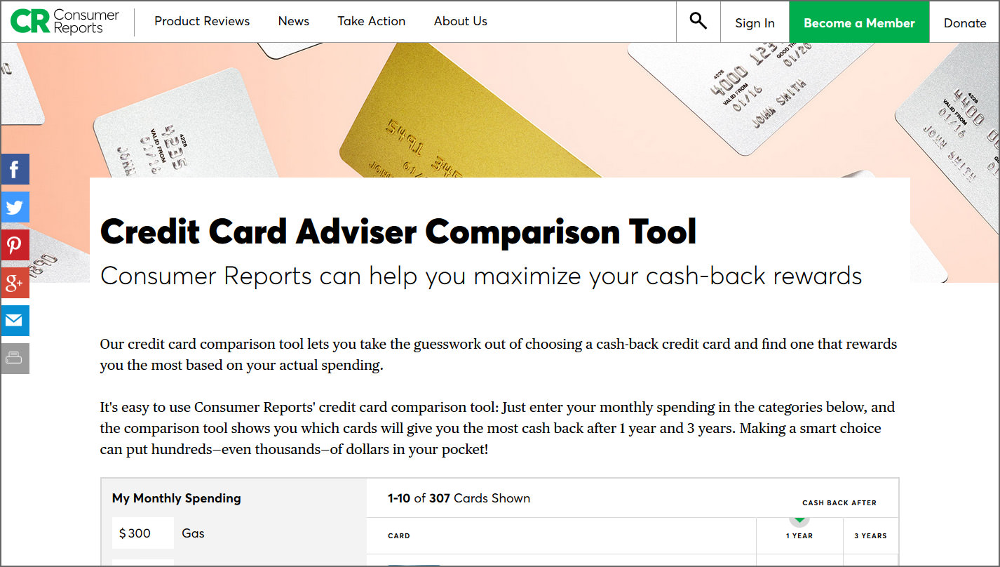10 Best Usa Credit Card Comparing Sites 1000 Offers And Rewards