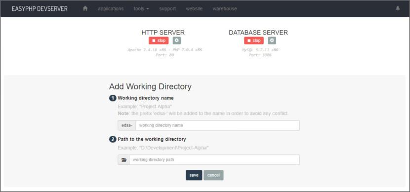 EasyPHP Devserver