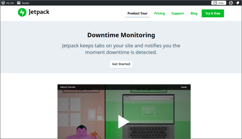 Jetpack's Downtime Monitor