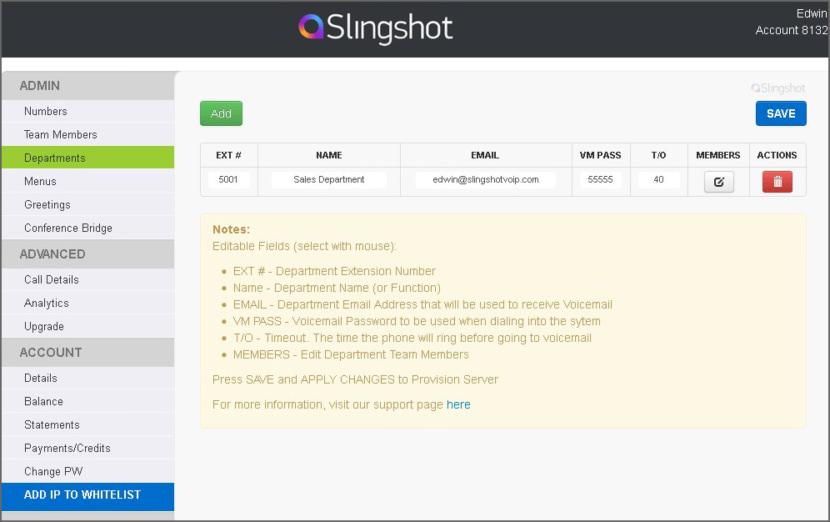 Slingshot VoIP