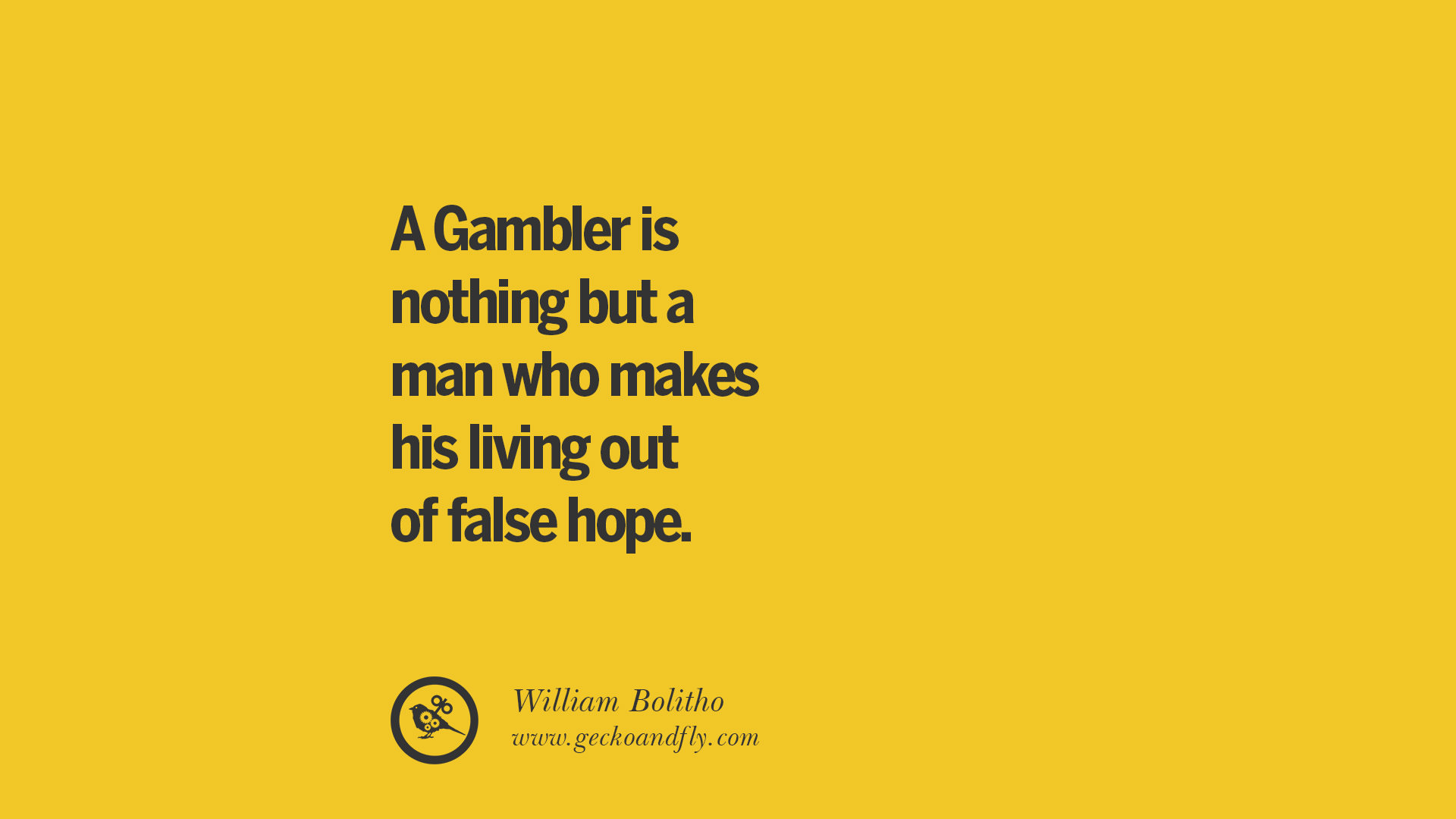 Quote About Gambling