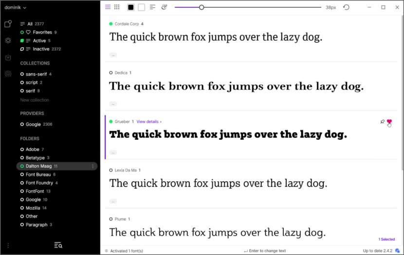 FontBase Free Font management