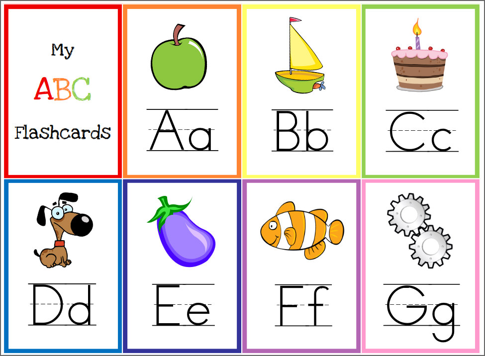 photograph regarding Abc Flash Cards Printable named 8 Totally free Printable Useful Alphabet Flashcards For Small children