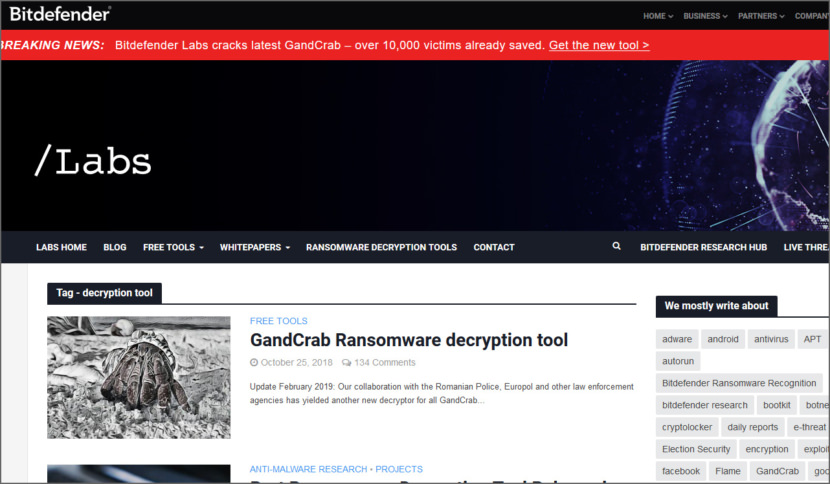 Bitdefender Decryption Tool
