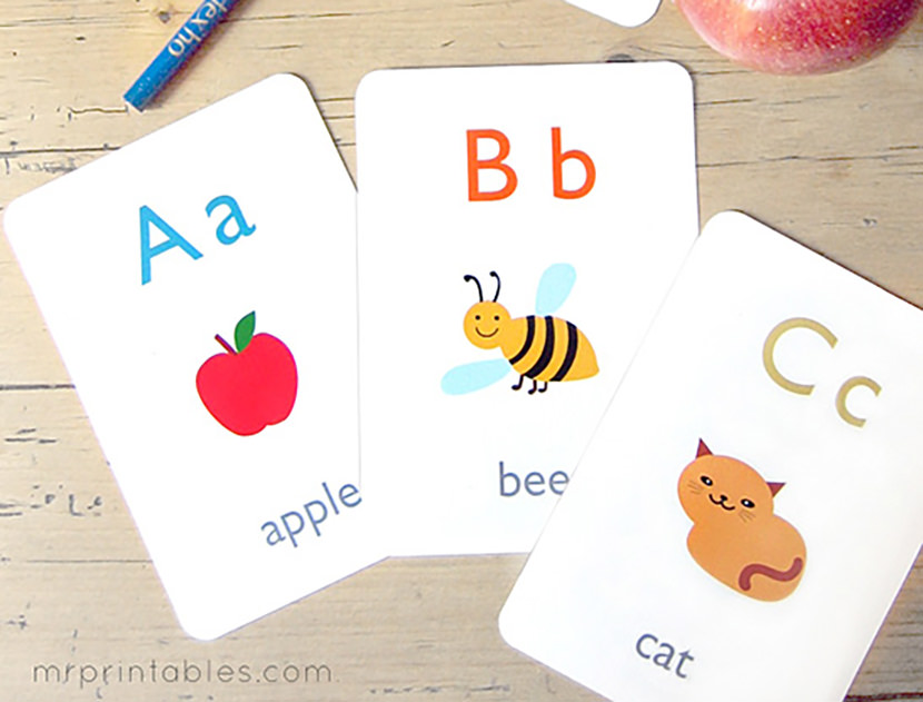 graphic about Printable Alphabet Flash Cards known as 8 Free of charge Printable Enlightening Alphabet Flashcards For Young children