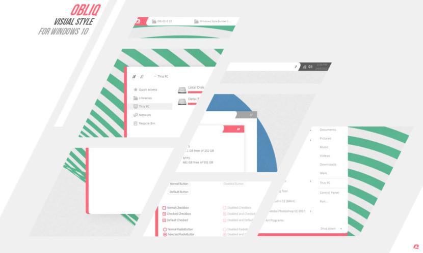 OBLIQ VS 10 Free Windows Skins / Themes