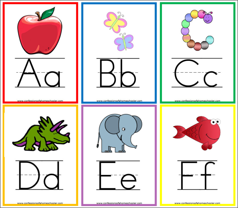 Alphabet Flashcards & Wall Posters