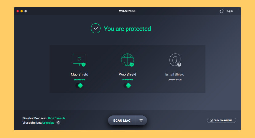 AVG AntiVirus App for Mac