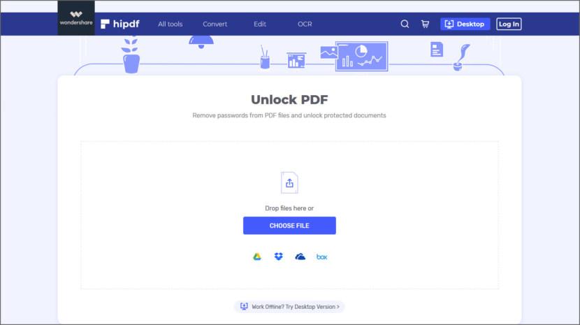 HiPDF Unlock PDF